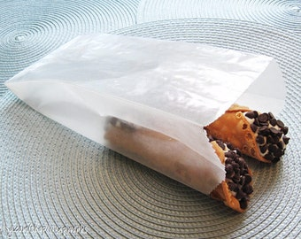 100 Glassine Gusseted Bags 4 x 3.25 x 9.75, For Pastry Bags, Goodie Bags, Popcorn Bags