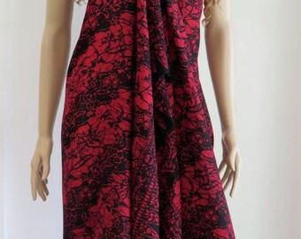 Hand printed Batik Sarong, Pareo, Wrap, Cover up E