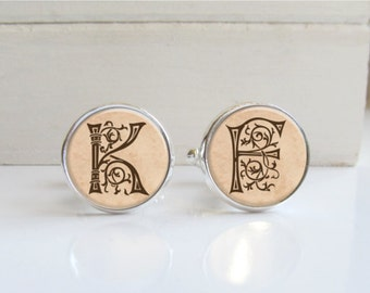 Initial Cufflinks, Personalized Custom Cufflinks