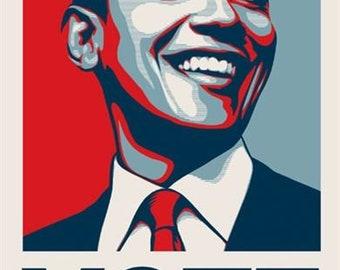 Shepard Fairey Obey Giant, Obama Vote, 2008