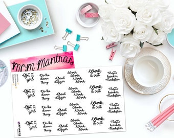 """MCM MANTRAS: """"Neutral Goal Digger"""" Paper Planner Stickers!"""