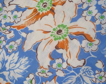 Vintage Floral Feedsack Fabric