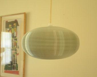 1950's Rotaflex Mid Century Modern Hanging Pendant Lamp Light
