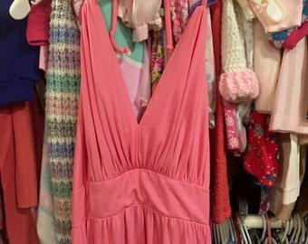70s Pink Barbie Dress Women's Small