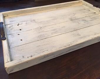 Shabby Chic Decorative Tray, Serving Tray, Wooden Serving Tray, Wood Tray, Rustic Serving Tray