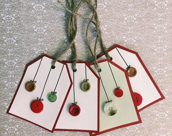 Red&Green Ornament Tags