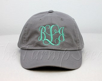 Ladies' Monogram Baseball Cap - Custom Color Hat and Embroidery.