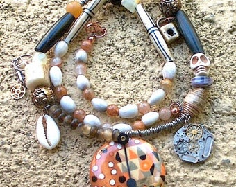 Native Steampunk. Urban Indian Life Time Necklace.