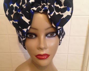 Bow Glam Hat (Royal Blue)