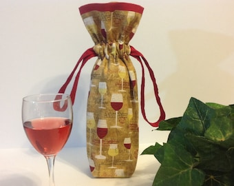 Wine Tote, Wine Gift Bag, Wine Bag, Wine Bottle Bag