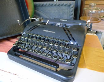 Smith Corona Sterling typewriter in original case [1945]