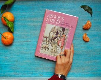 1960s Aesop's Fables Illustrated by Arthur Rackham - Children Literature, Vintage Book, Classic Children Book, Classic Literature