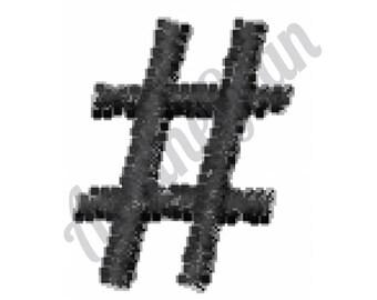 Hashtag - Machine Embroidery Design, Pound Sign