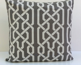 Off White and Gray Pillow, Throw Pillow Cover, Decorative Pillow Cover, Cushion Cover, Pillowcase, Accent Pillow, Home Decor, Cotton Blend