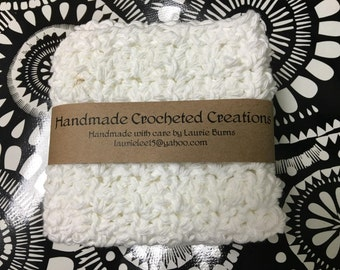 """Crochet Wash Cloths for Kitchen, Bath or Baby/ Scrubbing cloths ****As seen on """"At Home with Nikki"""" newsletter!!"""