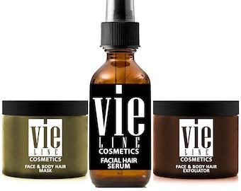 Facial Hair Control System - Stops Facial Hair Growth! 100% Natural Hair Growth Inhibitor - Permanent Hair Removal