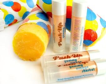 Push-Up - orange sherbet push-pop  - Shea Lip Butter