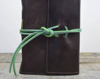 Leather Journal Sketchbook with watercolor paper