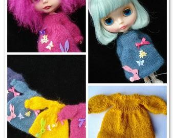 pdf knitting pattern - Blythe puff sleeve dress
