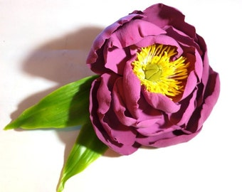 peony flower brooch, flowers brooches, brooche