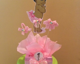 African american baby shower centerpiece, Baby Shower Centerpiece