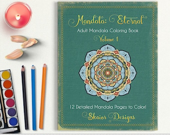 Mandala Coloring Book Adult Coloring Book Printable Relaxation Coloring Detailed Henna Coloring Pages Yoga Meditation Coloring Art Therapy