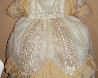 Vintage Baptism Gown christening dress for baby girl