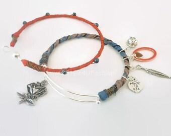 Arm Candy Bracelets - Arm Candy Fashion - Expandable Bracelet Set- OPENABLE Bangle Set - Minimalist Bangle - Tribal Gypsy Jewelry