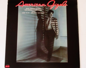 American Gigolo - Original Soundtrack Record - Giorgio Moroder - Blondie - Cheryl Barnes - Polydor 1980 - Vintage Vinyl LP Record Album