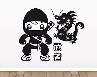 Ninja & Dragoons wall decals