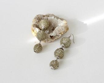 Vintage Disco Ball Dangle Earrings
