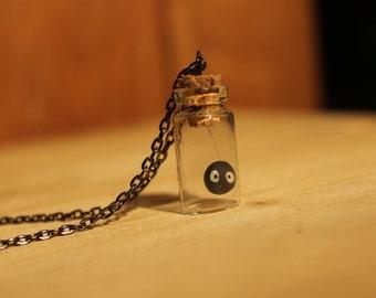 Susuwatari black necklace, Soot sprite, Ghibli, Totoro, Spirited away, Chihiro