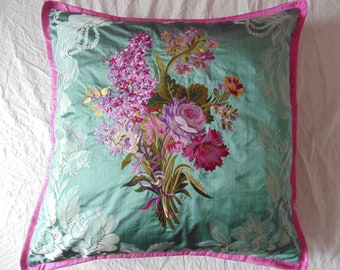 Designers Guild Fabric Royal Collection Charlotte Wedgwood Embroidery Cushion Cover