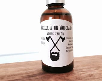 BEARD OIL: Handmade Beard Oil, Beard Conditioner (Cedar and Pine Scent) - Beard Grooming, Beard Care, Gift for Him, Men