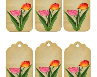 Flower Gift Tag 1D-clipart-Background-Jewelry-Clipart-Art Clip-Gift Tag-Holiday-Digital Clipart-Website-Banner-Notebook-Scrapbook.