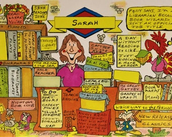 LIBRARIAN Personalized Cartoon
