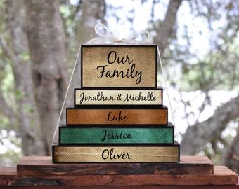 Custom Family names or Grandkids stacked set... sign block