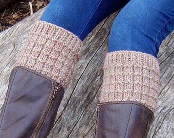Knitting PATTERN for Boot Tops Easy Beginner Knitting Pattern How to Knit Boot Cuffs Tutorial PDF Instant Download
