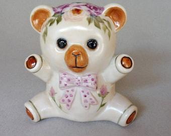 Hand Painted Baby Bear Bank
