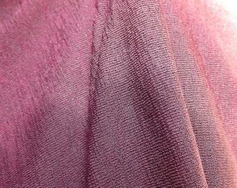 35% OFF SALE Cranberry knit sheer fabric