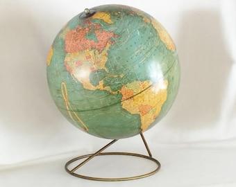 "CRAM'S IMPERIAL WORLD Globe - Cram's Imperial 12"" World Globe - Cram's World Globe Metal Stand"