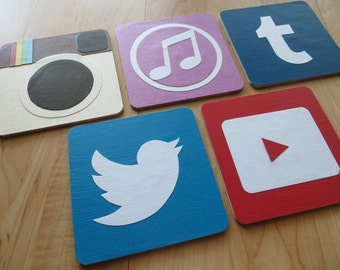 App Coasters - Geekery - House Warming - iPhone - Android - Galaxy - Nerd - Techie