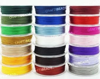 0.3MM 0.45MM - 100% Nylon Twisted Cord Thread Micro Macrame Beading Crochet Hand Neddle Crafts String Artisan