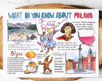 "Set of 170 cards ""what do you know about Poland"""
