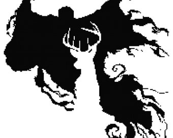 The Stag and Dementor Cross Stitch Pattern (PDF)