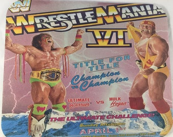Wrestlemania VI Hulk Hogan vs Ultimate Warrior custom Mouse Pad