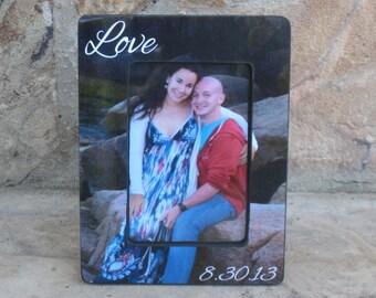 Personalized Picture Frame, Custom Wedding, Engagement. Boyfriend, Birthday Gift, Love, Unique Valentine's Day Gift, Collage Frame