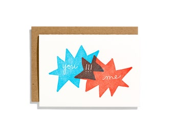 Venn Diagram - Letterpress Love Card - CL079