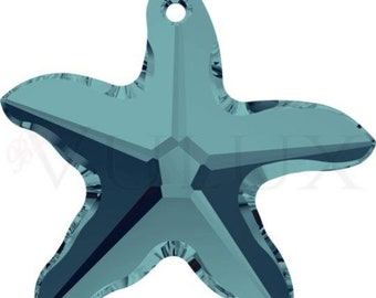 Wholesale Swarovski Starfish 6721  28 MM Indicolite (379)