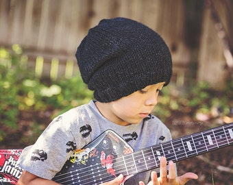 Little Hipster knit slouch beanie Toddler and Child size NINE COLORS